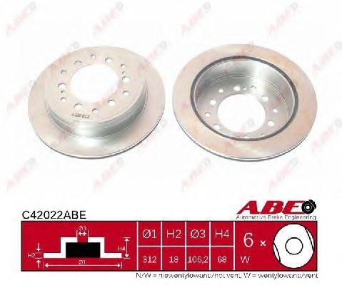 Тормозной диск ABE C42022ABE
