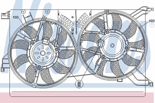Вентилятор охлаждения NISSENS 85523