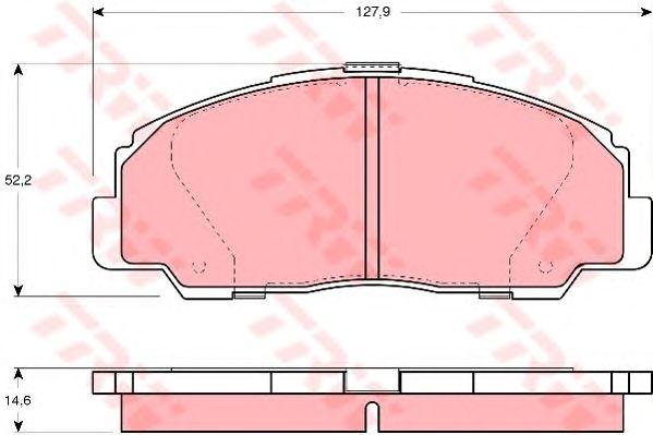 Тормозные колодки TRW GDB1135