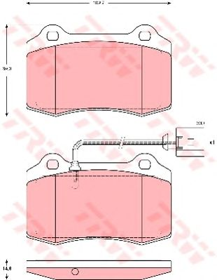 Тормозные колодки TRW GDB1644