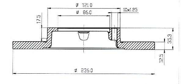 Тормозной диск QH International BDC5042