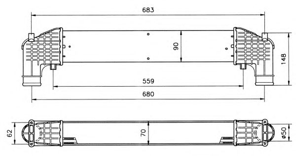 Интеркулер NRF 30108