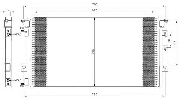 Радиатор кондиционера NRF 35296