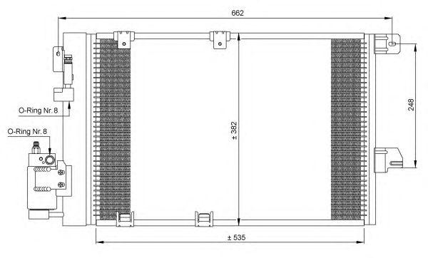 Радиатор кондиционера NRF 35301