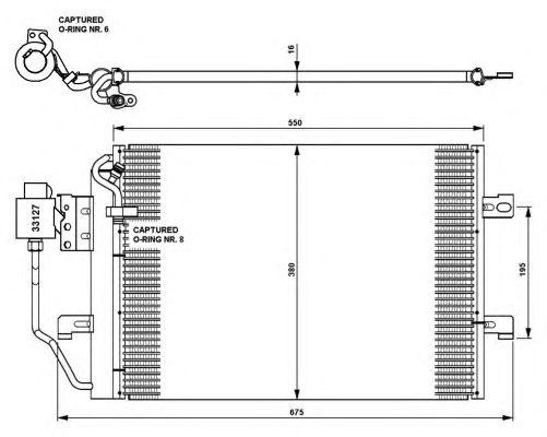 Радиатор кондиционера NRF 35309