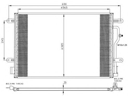 Радиатор кондиционера NRF 35404