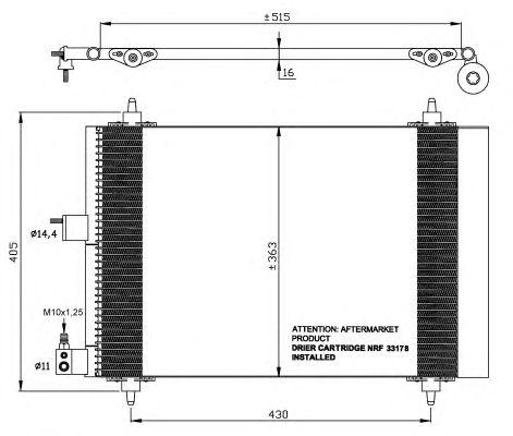 Радиатор кондиционера NRF 35414