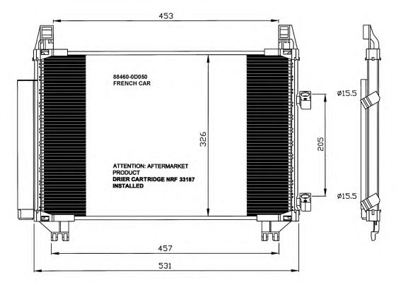 Радиатор кондиционера NRF 35653