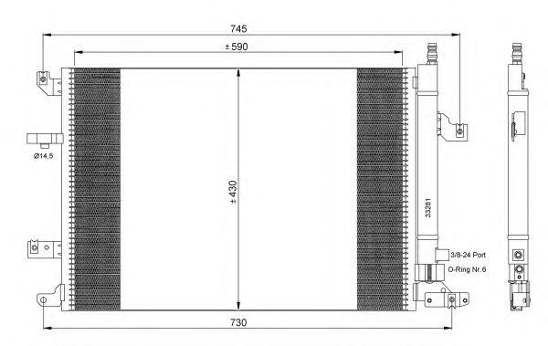 Радиатор кондиционера NRF 35739