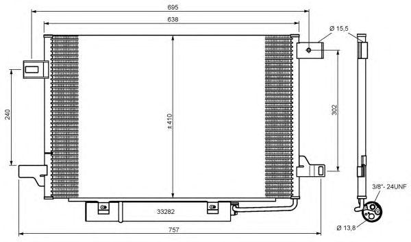 Радиатор кондиционера NRF 35758