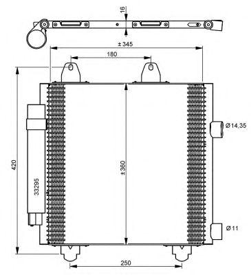 Радиатор кондиционера NRF 35778