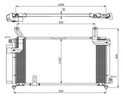 Радиатор кондиционера NRF 35847