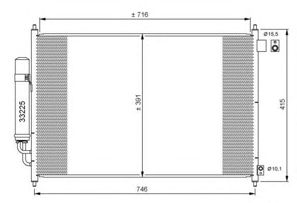 Радиатор кондиционера NRF 35866