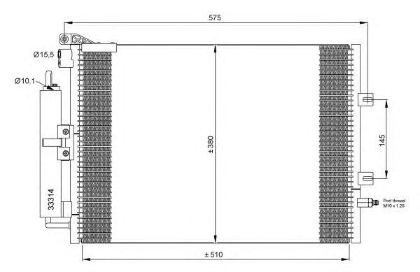 Радиатор кондиционера NRF 35897