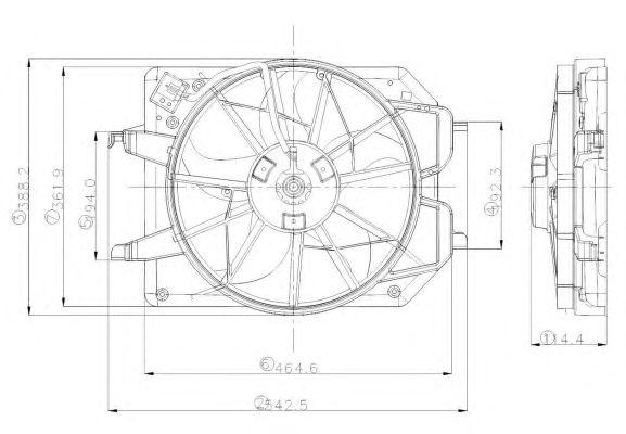 Вентилятор охлаждения NRF 47021