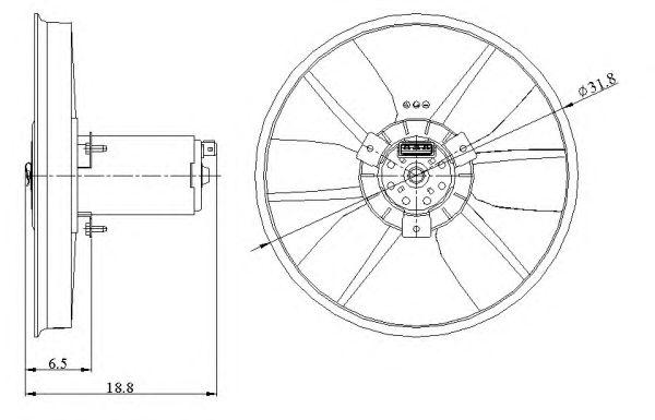Вентилятор охлаждения NRF 47401