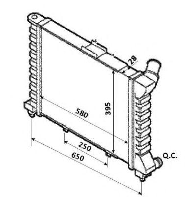 Радиатор, охлаждение двигателя NRF 53827