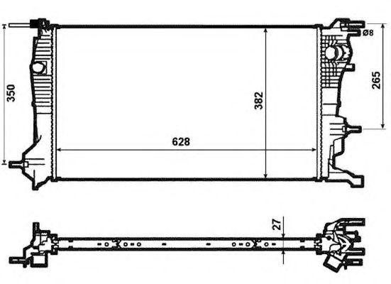 Радиатор, охлаждение двигателя NRF 53963