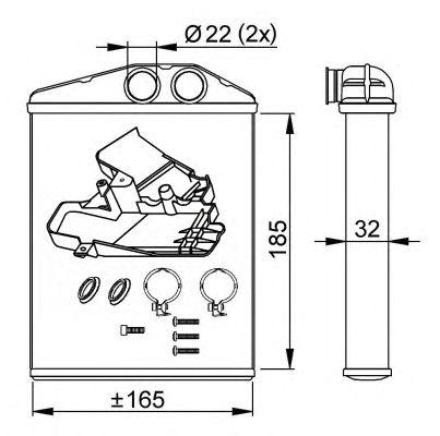 Радиатор отопителя NRF 54275