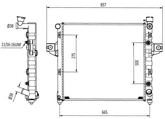 Радиатор, охлаждение двигателя NRF 58113