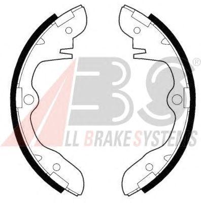 Тормозные колодки A.B.S. 8524