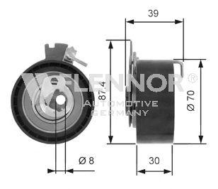 Натяжной ролик ремня ГРМ FLENNOR FS02145