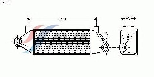 Интеркулер AVA QUALITY COOLING FD4385