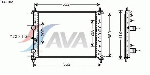 Радиатор, охлаждение двигателя AVA QUALITY COOLING FTA2182