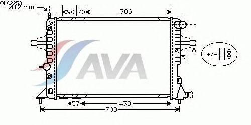 Радиатор, охлаждение двигателя AVA QUALITY COOLING OLA2253