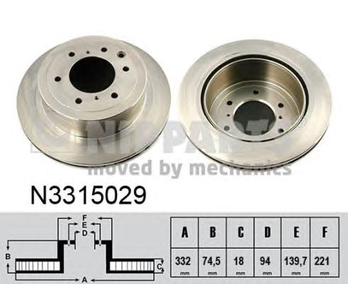 Тормозной диск NIPPARTS N3315029