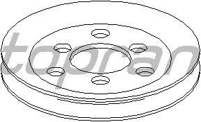 Шкив насоса гидроусилителя (ГУР) TOPRAN 109 645