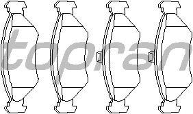 Тормозные колодки TOPRAN 300 255
