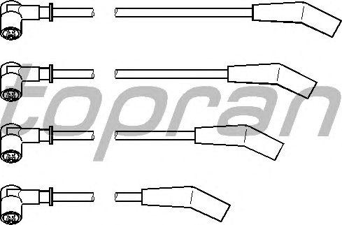 Комплект высоковольтных проводов TOPRAN 302 046