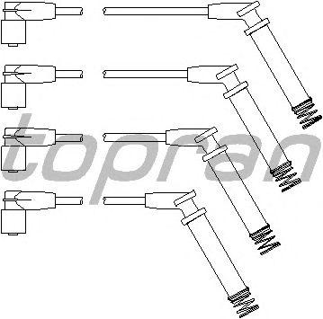 Комплект высоковольтных проводов TOPRAN 202 530