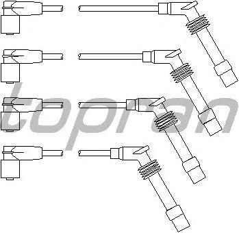 Комплект высоковольтных проводов TOPRAN 202 531