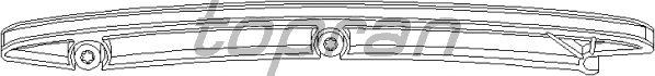 Планка успокоителя цепи TOPRAN 205 559