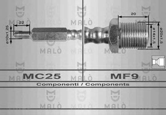 Тормозной шланг MALO 8334