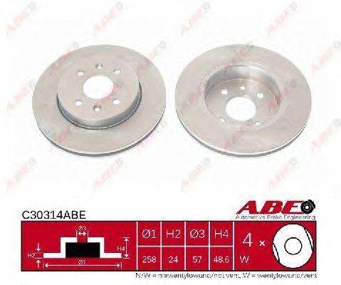 Тормозной диск ABE C30314ABE
