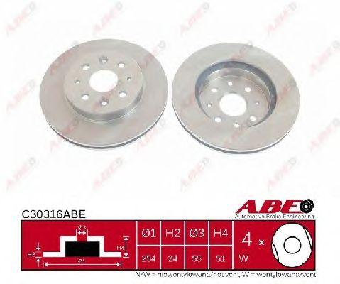 Тормозной диск ABE C30316ABE
