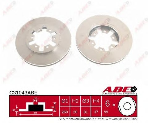Тормозной диск ABE C31043ABE