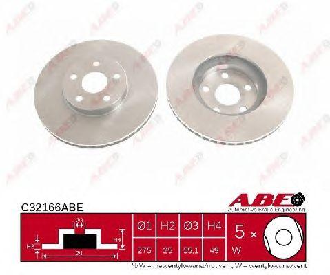 Тормозной диск ABE C32166ABE