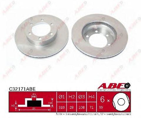 Тормозной диск ABE C32171ABE