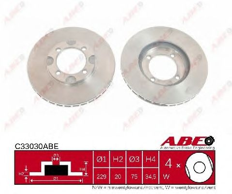 Тормозной диск ABE C33030ABE