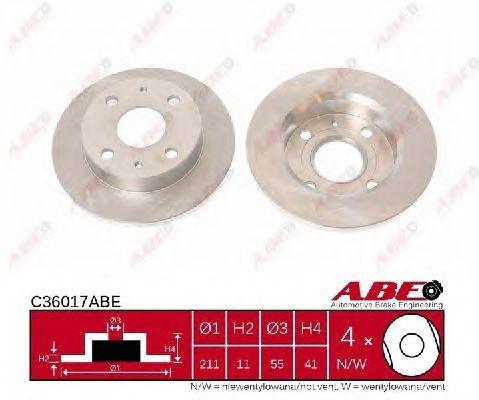 Тормозной диск ABE C36017ABE