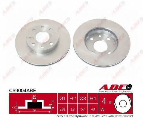 Тормозной диск ABE C39004ABE