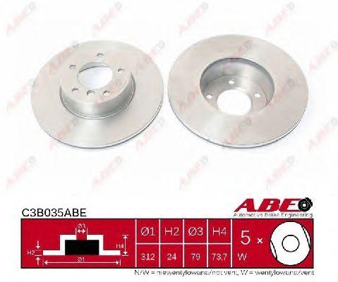 Тормозной диск ABE C3B035ABE