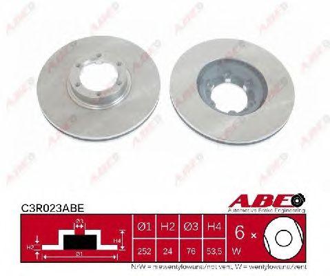 Тормозной диск ABE C3R023ABE