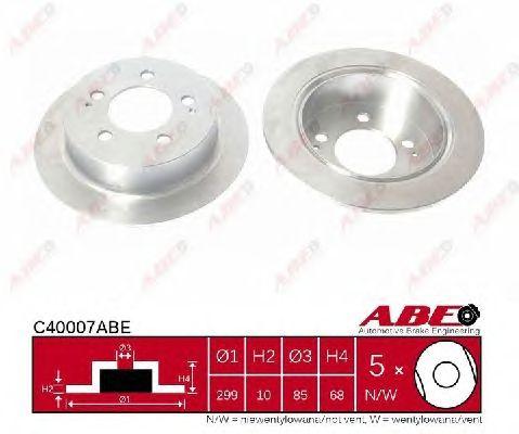 Тормозной диск ABE C40007ABE