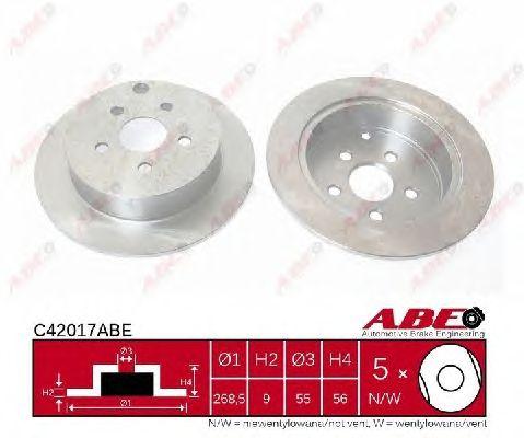 Тормозной диск ABE C42017ABE