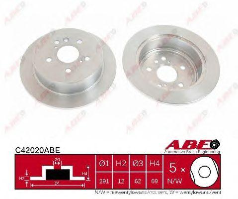 Тормозной диск ABE C42020ABE